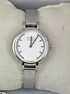 【送料無料】 腕時計 ストラップホワイトステンレススチールウォッチesq movado women 07101391 strap white textured stainless steel watch