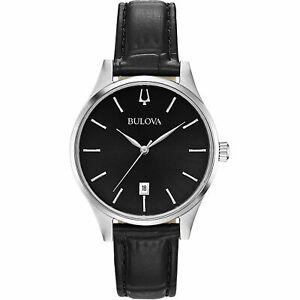 【送料無料】 腕時計 クラシックデネグロbulova 96m147 classic reloj de pulsera negro