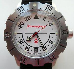 【送料無料】 腕時計 ロシア24vostok komandirskie350607russian watch vostok komandirskie 24 hours military automatic 350607