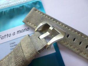 【送料無料】 腕時計 ハンドメイドレザーストラップパネライグレー listing handmade leather strap in 24mmgrey in 2422mm compatible with panerai