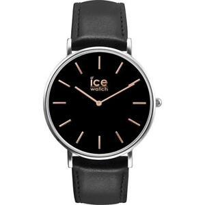 【送料無料】 腕時計 メンズアイスシティクラシックブラックローズゴールドウォッチ