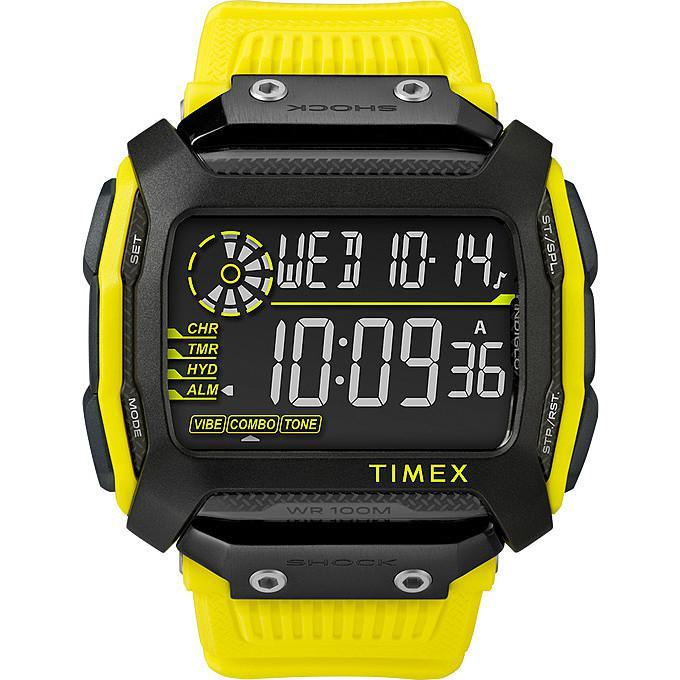 【送料無料】 腕時計 コマンドシリコンイエローブラックデジタルクロノ