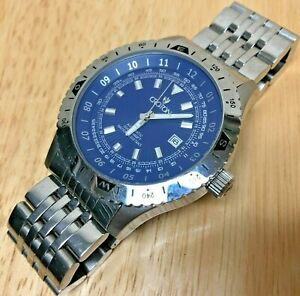 【送料無料】 腕時計 ヘンヨウボク200mhours ̄datecroton men 200m moving bezel silver blue selfwinding automatic watch hours~date