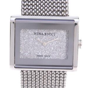 【送料無料】 腕時計 ニナリッチラインストーンウォッチauthentic nina ricci n02512 rhinestone watches stainlestainless steel ste