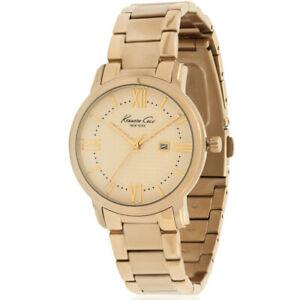【送料無料】 腕時計 ケネススチールブレスレットケースクオーツウオッチkenneth cole womens goldtone steel bracelet amp; case quartz watch 10027345