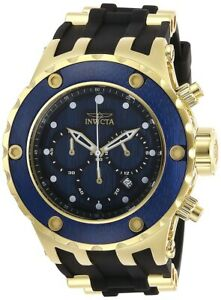 【送料無料】 腕時計 メンズクロノグラフステンレススチールウォッチinvicta 27910 specialty mens chronograph 52mm stainless steel blue wood d watch