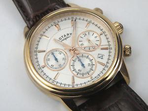 【送料無料】 腕時計 ロータリーメンズモナコローズゴールドレザーストラップウォッチrotary gs0287906 mens monaco rose gold plated leather strap watch