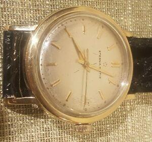 【送料無料】 腕時計 ヴィンテージkマティックウォッチvintage 18k gf eternamatic watch