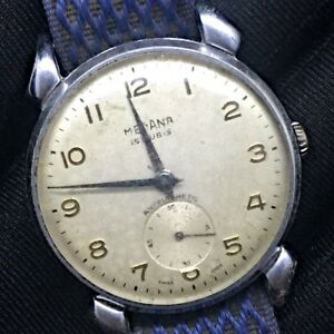 【送料無料】 腕時計 ビンテージロープmedana vintage watch working hand manual winding rope 34,5 mm