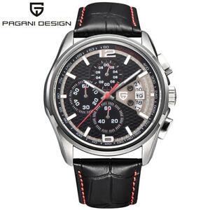 【送料無料】 腕時計 pagani designクロノグラフpagani design chronograph casual wristwatch stops date men quartz watch