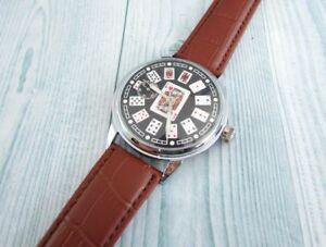 【送料無料】 腕時計 カードソビンテージソmolnija playing cards soviet cal3602 vintage ussr wristwatch 18 jewels servised