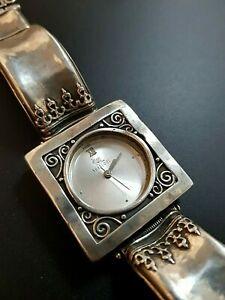 【送料無料】 腕時計 スターリングシルバーブレスレットイスラエルsterling silver 925 massive watch bracelet womens israel shablool