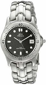 【送料無料】 腕時計 ジーノフランコメンズクォーツムーブメントアナログラウンドステンレススチールブレスレットgino franco mens quartz movement analog round stainless steel bracelet watch