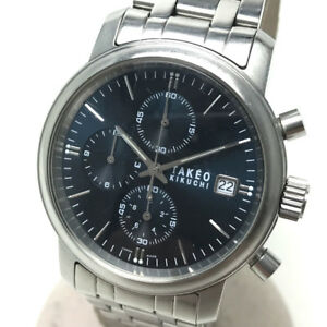 【送料無料】 腕時計 authentic takeo kikuchiクロノグラフクオーツss tk2079authentic takeo kikuchi chronograph date quartz wristwatch silver ss tk2079