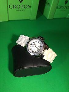 【送料無料】 腕時計 クロトンレディースホワイトウォッチcroton womens white watch