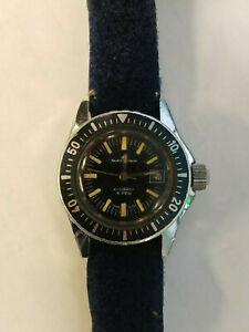 【送料無料】 腕時計 レディースオートマチックダイバーウォッチrare bucherer ladies automatic diver watch 33mm with crown works