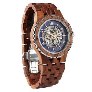 【送料無料】 腕時計 メンズハンドメイドwilds men's handmade kosso wood watches automatic wooden watches for him
