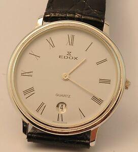 【送料無料】 腕時計 edox mens ステンレスedox mens date watch stainless steel case