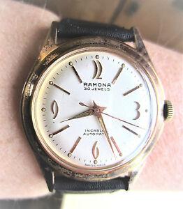 【送料無料】 腕時計 1950スイスラモーナ30jfelsa 1560 movtサービス1950s swiss gold plated ramona 30j automatic felsa 1560 movt watch prof service