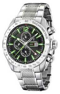 【送料無料】 腕時計 メンズクロノグラフデュアルタイムウォッチfestina mens chronograph amp; dual time f204396 watch