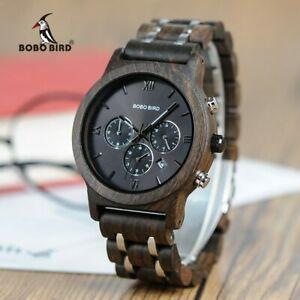 【送料無料】 腕時計 ボーボーバードステンレスビジネスbobo bird wood watches men business luxury stop color with wood stainless steel
