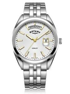 【送料無料】 腕時計 ヘントヘンリーステンレスgb0529070rotary gents henley stainless steel watch  gb0529070