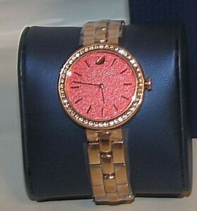 【送料無料】 腕時計 スワロフスキーコーラルブレスレットリンクブレスレットwomans swarovski daytime coral bracelet watch link bracelet article 5182250
