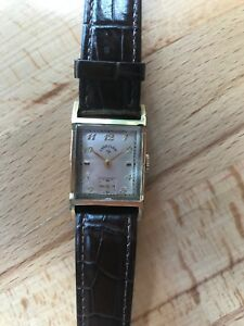 【送料無料】 腕時計 エルギンマン21サービスlord elgin mans wrist watch 21 jewels,gold filled case runs perfect serviced
