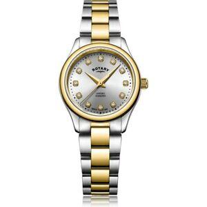 【送料無料】 腕時計 ロータリーレディースオックスフォードトーンポンドrotary ladies oxford two tone watch lb0509344d