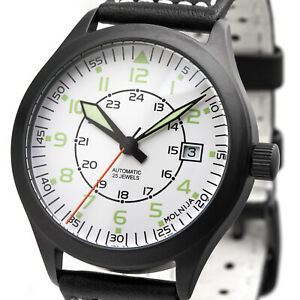 【送料無料】 腕時計 ホワイトアナログロシアaviation aviator watch automatic white analog military watch russia tmp 2824