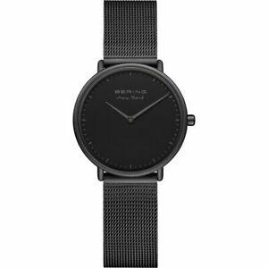 【送料無料】 腕時計 クオーツアナログステンレススチールブラックベーリング