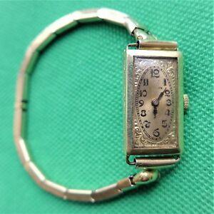 【送料無料】 腕時計 womens142030erkmarly womens wristwatch, housing made of gold, 14 k, good function, 2030er years