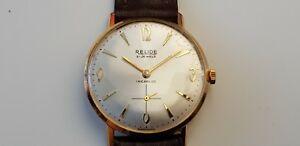 【送料無料】 腕時計 ビンテージメンズユニーククロノグラフvintage relide 21 jewel incabloc mens wrist watch unique chronograph