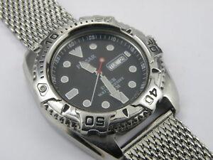 【送料無料】 腕時計 メンズパルサープロフェッショナルダイバーシャークメッシュウォッチメートルmens pulsar v7366a60 professional divers shark mesh watch 200m