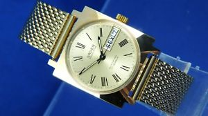 【送料無料】 腕時計 ビンテージレトロvintage retro gruen automatic watch circa 1970s nos cal as 1906 condition