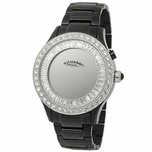 【送料無料】 腕時計 ファッションレディクォーツブラックステンレススワロフスキー