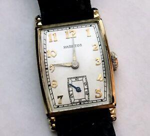 【送料無料】 腕時計 メンズマニュアルショールズウォッチvtg mens hamiilton wristwatch 1940s manual wind myron watch rectangle