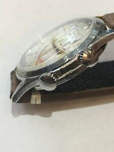 腕時計 ビンテージメンズアラームステンレスvintage helbros mens  alarm watch stainless steel  as1475 31e valjoux 233