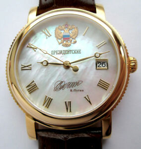 【送料無料】 腕時計 ロシアプーチンパールrussian watch president putin poljot movement automatic mother of pearl