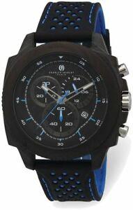 【送料無料】 腕時計 チャールズヒューバートケースchronocharles hubert carbon fiber case chrono blue strap watch