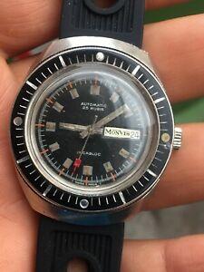 【送料無料】 腕時計 monvisインカブロックビンテージイヤー70ダイバー