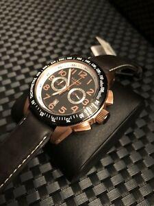 【送料無料】 腕時計 elysee mens chronograph rose gold watchelysee mens chronograph rose gold watch
