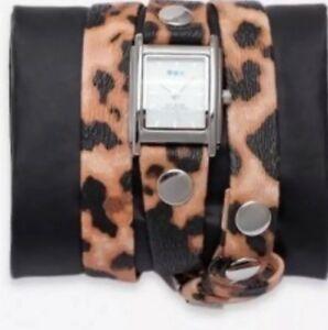 【送料無料】 腕時計 ラコレクションラップウォッチla mer collections leopard wrap watch