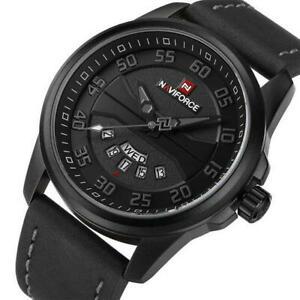 【送料無料】 腕時計 スポーツクォーツnaviforce men military sports quartz watch
