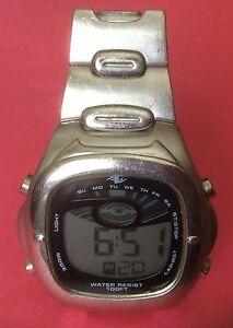 【送料無料】 腕時計 #ビンテージシルバーメタルメンズデジタル0161 vintage silver metal men's advance athletic works digital watch
