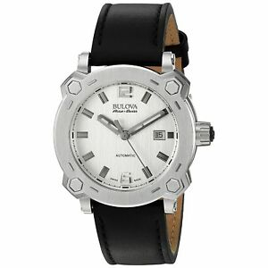腕時計 メンズbulova 63b191 mens percheron silvertone automatic watch