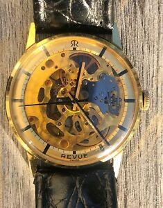 【送料無料】 skeleton vintage スケルトンビンテージrevue 腕時計