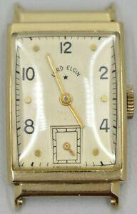 【送料無料】 腕時計 ヴィンテージエルギン14kイェローゴールドケース55921jムーヴメントvintage lord elgin 559 21j watch movement in 14k solid yellow gold case