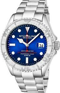 【送料無料】 腕時計 depthmaster 18 mensスイスモスリンstuhrlingstuhrling depthmaster 18 mens swiss jewel