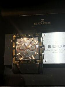 【送料無料】 腕時計 マンウォッチスイスサファイアクリスタルedox man watch, swiss made sapphire crystal 39812210013 very good condition